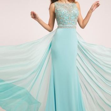Jovani Beaded Long Dress 21029