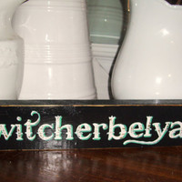 Kwitcherbelyakin chic western Shabby Sign rustic distressed black white aqua