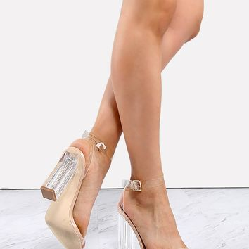 CR Kardashian Inspired Clear Lucite Heels