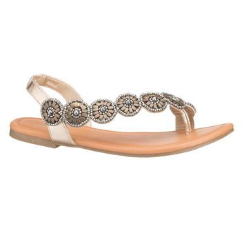 Jenny Medallion Sandal - Brown