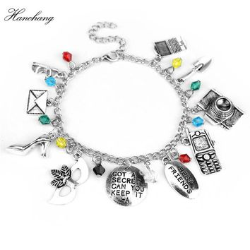 Pretty Little Liars Bracelet Bangle GOT A SECRET CAN YOU KEEP IT -A Mask Crystal Bead Bracelet Best Friends Women Christmas Gift