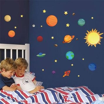 solar system planets moon wall decals kids gift bedroom decorati. Shop Solar System For Kids on Wanelo