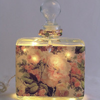 Rose Morning Perfume Bottle Nightlight ( Night Light )