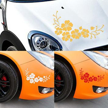 CARPRIE Waterproof Car Sticker Car Decal Delicate Flying Engraving Flower Auto Pattern Truck Hood Side Sticker Easy to remove
