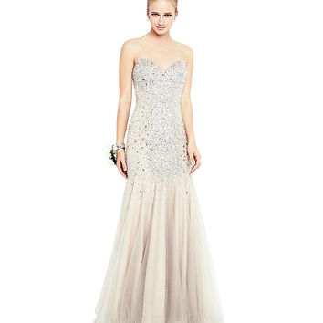 Glamour by Terani Couture Sweetheart Trumpet Gown | Dillards.com