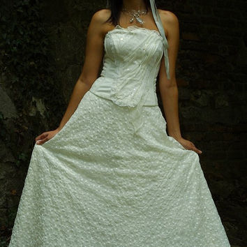 Romantic VintageStyle Alternative Wedding Gown by KataKovacs