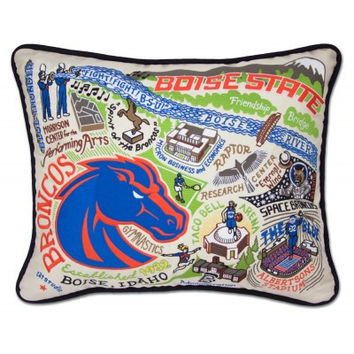 Boise State University Embroidered Pillow