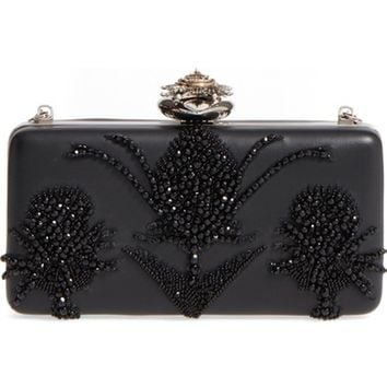 Alexander McQueen Embellished Nappa Leather Clutch | Nordstrom