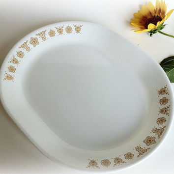 Vintage Corelle Butterfly Gold Oval Serving by vintage19something
