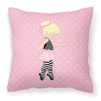 Ballerina Blonde Releve Fabric Decorative Pillow BB5162PW1818