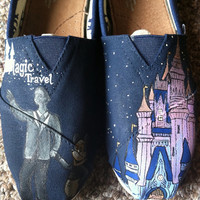 Disney World Inspired Shoes by HandPainted29 on Etsy