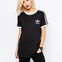 adidas Originals White Three Stripe T-Shirt