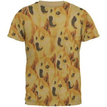 DCCKJY1 Happy Dog Doge Meme Mens T Shirt