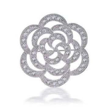 Bling Jewelry Hypnotic Rose Brooch
