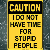 I DO NOT HAVE TIME FOR STUPID PEOPLE TIN SIGN