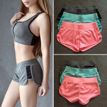 Korean Sports Yoga Jogging Shorts [10195861516]