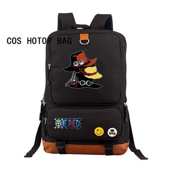 Anime Backpack School Hot kawaii cute One Piece backpack Luffy cosplay Cartoon casual backpack teenagers Men women Student School Bags travel bag 20 style AT_60_4