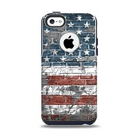 The Vintage USA Flag Apple iPhone 5c Otterbox Commuter Case Skin Set