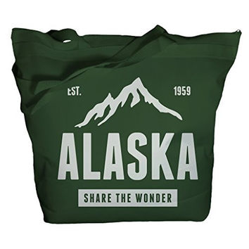 Shirts By Sarah Tote Bag Alaska Mountains Share The Wonder Bags Vacation Cruise Totes