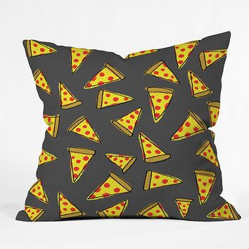Leah Flores Pizza Party Throw Pillow
