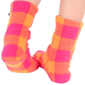 Kids' Fleece Socks - Raspberry Sunrise