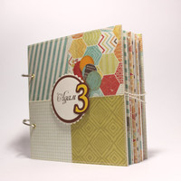 Baby Memory Book  Baby Boy Scrapbook Album PERSONALIZED with Baby's Name and Years