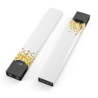 Skin Decal Kit for the Pax JUUL - Descending Scattered Golden Micro Dots