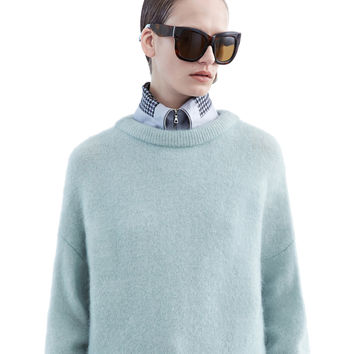 Acne Studios - Dramatic moh dull jade green