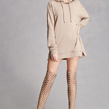Thigh-High Caged Boots