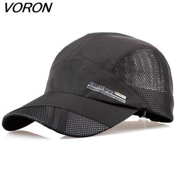 VORON 2017 summer quick-drying mesh hat breathable unisex outdoor sunshine sport climbing cap recovery baseball cap