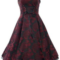 50's Brocade Prom Party Dress