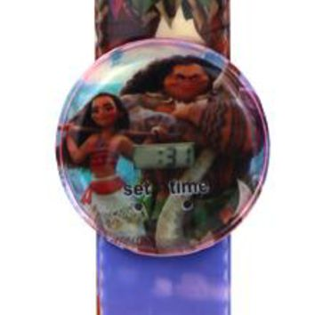 Free shipping 5PCS New Movie Moana cartoon slap watches Baby Gift For Children wirstwatch