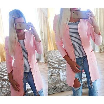 Autumn Winter Maternity Cardigan Pregnant Clothes Solid Color Big Pockets Cotton Coat Simple Cardigan Outerwear For Pregnant