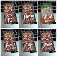 iPod Touch 4 3 - 1D ONE DIRECTION keep calm and love harry niall louis zayn liam union jack case cover