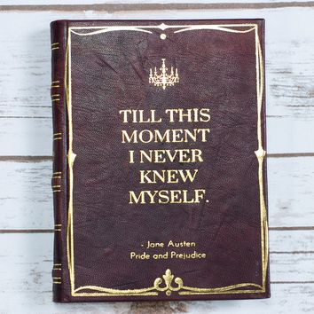 Vintage Jane Austin Pride & Prejudice Handmade Leather Journal
