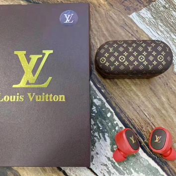 Louis vuitton fashionable casual men's and women's sports headset is a hot seller of printed wireless bluetooth headset