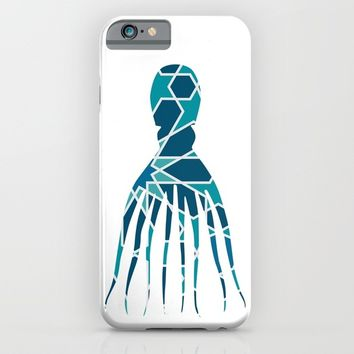 OCTOPUS SILHOUETTE WITH PATTERN iPhone & iPod Case by deificus Art