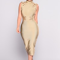 Change This Love Bandage Dress - Olive