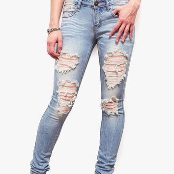 Kimmy Distressed Low-Rise Jeans