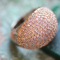 Rhinestone Cocktail Ring// Gift For Her