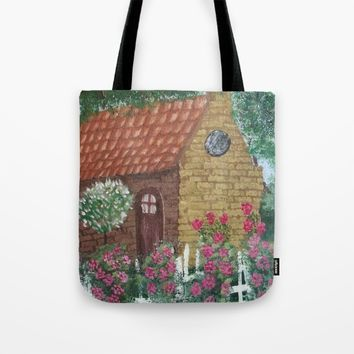 A Cozy Cottage Tote Bag by Lindsay