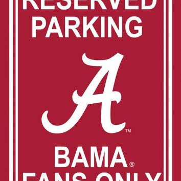 ONETOW NCAA Alabama Crimson Tide 12' X 18' Plastic Parking Sign