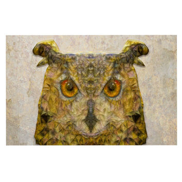 "Ancello ""Abstract Owl"" Brown Decorative Door Mat"