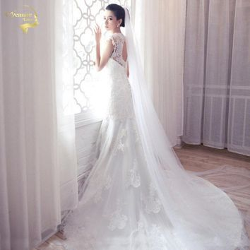 2017 Hot Simple Tulle Wedding Veils