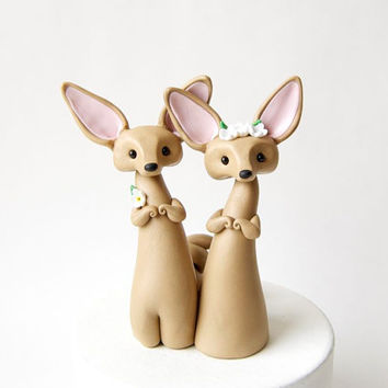 Fennec Fox Wedding Cake Topper by Bonjour Poupette