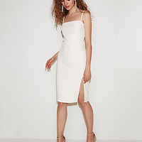 Front Slit Sheath Dress