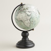 Mini Gray Globe on Stand