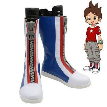 Youkai Watch Nathan Adams Cosplay Boots Party Anime Shoes Custom Made