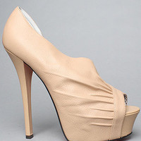 The Carrla Shoe in Nude Suede by Betsey Johnson | Karmaloop.com - Global Concrete Culture