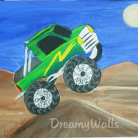 Monster Truck Art Print for Boys Room